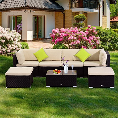 Gartenlounge: Outsunny® Poly-Rattan Loungeset