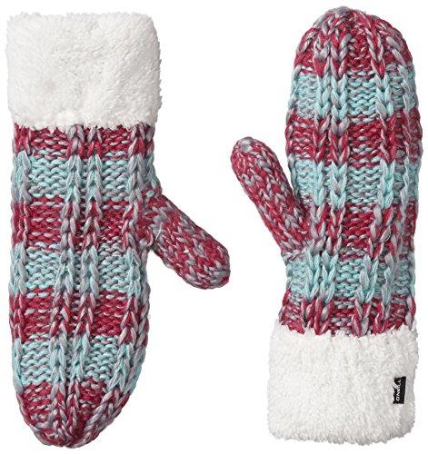 O'neill aC knit mitt paire de gants pour femme taille unique Multicolore Multicolore - Framboise Pink