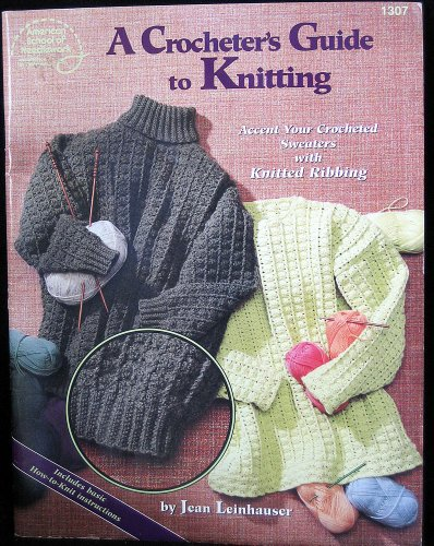 A crocheter's guide to knitting: Accent your crocheted sweaters with knitted ribbing - Accent Sweater