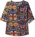 Harpa Women's Body Blouse Shirt (GR3259-BLUE_L)
