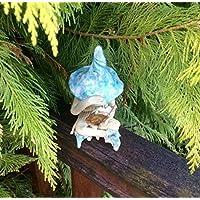 Shy fairy, hand made fairy garden pottery fairy, reading her book, 3 colours available.