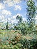 Poster 60 x 80 cm: Weg durch die Mohnblumen von Claude Monet - hochwertiger Kunstdruck, Kunstposter