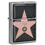 PhotoFancy® - Sturmfeuerzeug Set mit Namen Tom - Feuerzeug mit Design Walk of Fame - Benzinfeuerzeug, Sturm-Feuerzeug