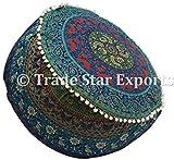 Trade Star Exports Indan Mandala Housse de Pouf, Ethnique Coton Pouf Coussin décoratifs, Ottoman Repose-Pieds Pouf, Hippie Plancher Assise Boho Décor