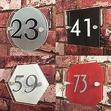 BabySmiles–Placa para puerta casa con número de casa, Envíe nosotros sus Directrices, nosotros acabadas personalizar su timbre Cartel, inoxidable, UV de seguro, impermeable