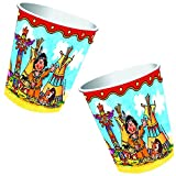 8-teiliges Becher-Set * INDIANER YANUK * für Geburtstagsfeier oder Mottoparty // Kinder Geburtstag Party Pappbecher Partybecher Cups Motto Wilder Westen