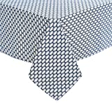 Deconovo Manteles Mesa Rectangular Tela Estampada Diseño Marroquí Impermeable Mantel para Salón Comedor Cocina 137 x 200 cm Azul Marino
