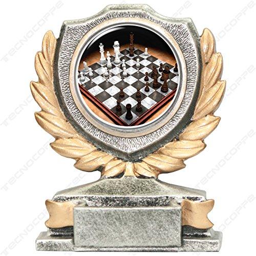 Trofeo Ajedrez H 12cm la placa personalizada ist compresa en el precio