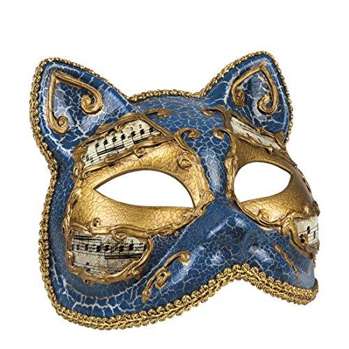 Halloweenia - Damen Kostümzubehör: Venezianische Maske, Katze, (Kostüm Frankenstein Katze)