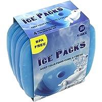 WORLD-BIO 4/8 Packs de Glace Réfrigérants Glacière - Petits mais durables - Froid congélateur Sac glacière boîtes…