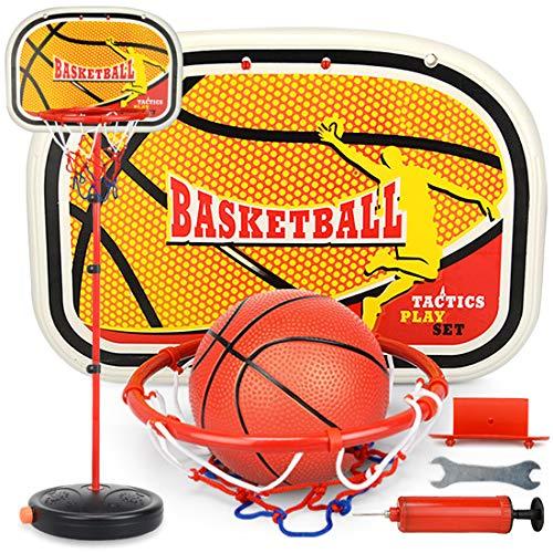 iVansa Basketballkorb Kinder, Höhenverstellbare Basketballkorb mit Ständer, Spiel Set inkl. Ball und Pumpe, 190 cm