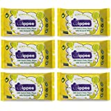 Wippee 30N Usable Baby Wipes With Almond Oil ( Pack Of 6)