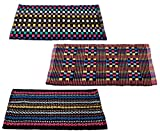 #2: Story@Home Traditional Style Eco Series 3 Piece Cotton Blend Door Mat Set - 16