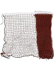 sourcingmap® 20ft 6M long Nylon garniture blanc Bourgogne Tressé Mesh Badminton Training Net