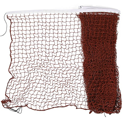 sourcingmap 20 Ft 6 M LANG Nylon weiß Verkleidung Burgund geflochtene Netz Badminton Training Net (20' Training)