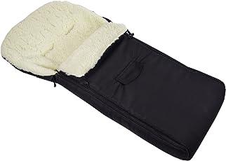 BAMBINIWELT universaler Winterfußsack (108cm), auch geeignet für Babyschale, Kinderwagen, Buggy, aus Wolle UNI