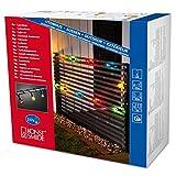 Konstsmide 2328-510 Biergartenlichterkette/für Außen (IP44) / 230V Außen / 10 bunte Birnen/schwarzes Kabel
