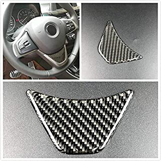 BAAQII Carbon Fiber Steering Wheel Emblem Sticker for BMW 16-17 X1 F48 2017 1 Series