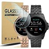 Diruite 4 Pack Compatible con Fossil Gen 5E 42mm/44mm Cristal Templado Protector Pantalla,HD Film 9H Dureza Transparente Anti
