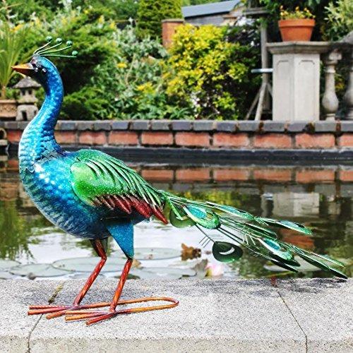 Escultura decorativa pavo real grande 69