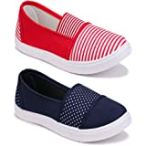 Shoefly Women Multicolour Latest Collection Sneakers Shoes- Pack of 2 (Combo-(2)-11021-11031)