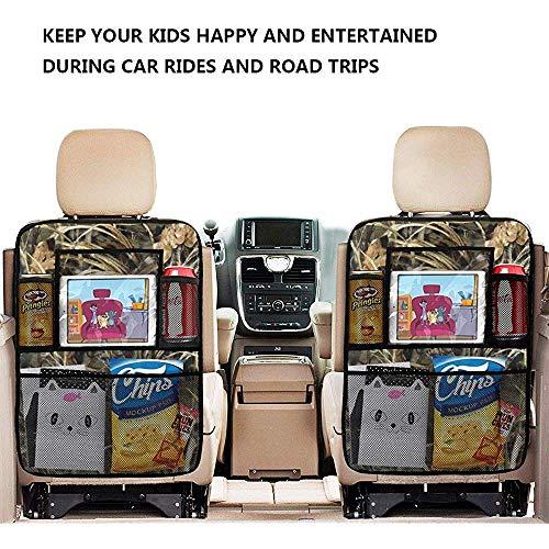 Realtree Camo Wallpapers Logo Organizador de asiento trasero para automóvil Con 4 bolsillos de almacenamiento Organizador de asiento trasero para accesorios de viaje (paquete de 2) -