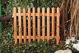 Gartenwelt Riegelsberger 1 Stk. Zaunbrett Lärche 27x60 mm, 80 cm Hoch, gekegelt, Typ C, halbrund Lärchenholz Holz Zaunlatte Stakete