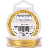 BENECREAT Aanslagbestendige gouddraad, 22 gauge (0,6 mm), koperdraad voor het maken van sieraden, 20 m