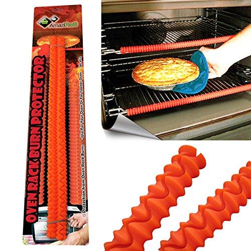 Gebaut Grill (AmaziPro8Backofenrost-Schutz gegen Verbrennungen, Silikon, hitzebeständig, inkl. Schlüsselanhänger-Tasse, 8herunterladbaren Rezeptbüchern)
