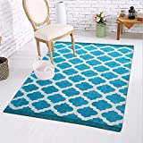 #3: Royal Decor Ethnic Velvet Touch Abstract Chenille Carpet - 5 x 7 Feet, Turquoise