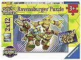 Ravensburger Italy 75973 - Puzzle Tartarughe Ninja, 2 X 12 Pezzi, Multicolore