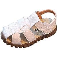WINJIN Chaussures pour Enfants Mixte Sandales et Mules en Cuir Souple Chaussure Bébé Sandales Bout Fermé Chaussure d'été…