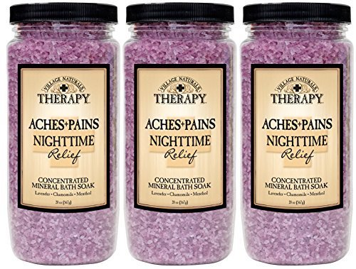 Mineral Soak (Village Naturals Therapy Aches and Pains Nighttime Relief Mineral Bath Soak 20oz 3 pack (3) by Village Naturals Therapy)
