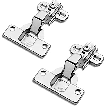Black Pack of 10 10X 110 Degree Kitchen Cabinet Cupboard Wardrobe Door Hinges with Soft Close Cushioning Mechanism Titanium Plated Standard Hinge