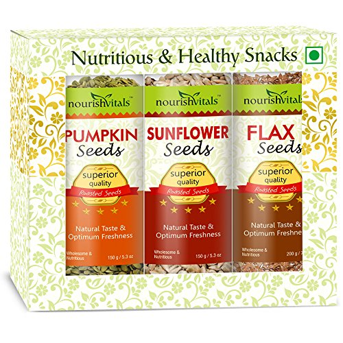 Nourish Vitals Roasted Pumpkin + Sunflower + Flax Seeds (superior Quality)