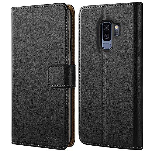 HOOMIL Galaxy S9 Plus Hülle, Handyhülle für Samsung Galaxy S9 Plus Tasche Leder Flip Case Brieftasche Etui Handy Schutzhülle - Schwarz (H3237) -