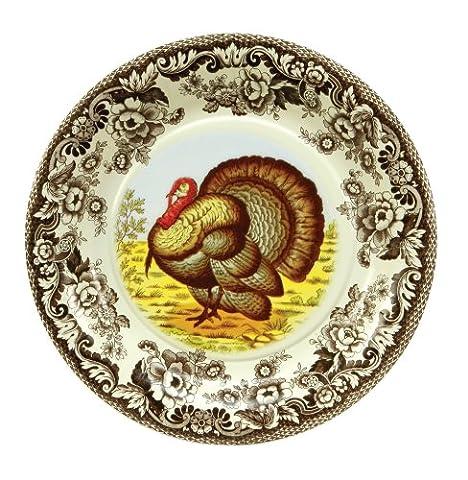 Assiette 101/5,1cm–Woodland Turquie Papier Plaque de 8–en rupture de stock