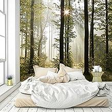 Fototapete Wald 274,5 X 254 Cm Bäume Sonne Tapete Inklusiv Kleister  Livingdecoration