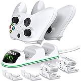 OIVO Ricarica Controller con Batteria Ricaricabili per Xbox One/Xbox Series X/Xbox Series S, Caricatore Controller con 2 x 13