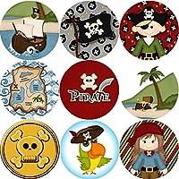 144 Pirate Adventure - Themed Teacher Reward Stickers - Size 30mm