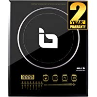 iBELL 200Y 2000-Watt Premium Induction Cooktop, Glass Top, Big Size, with Auto Shut Off and over Heat Protection (Black)