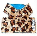 Twinkys Dog Style Hunde Softgeschirr XXS Leopard mit großem Anker für Kleine Hunde