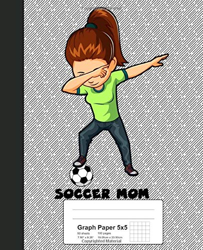 Graph Paper 5x5: Book Dabbing Soccer Mom (Weezag Graph Paper 5x5 Notebook, Band 61)