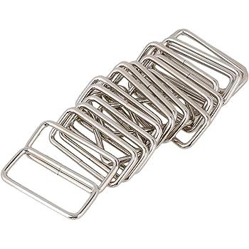 10/PCS Dee Ring nicht geschwei/ßt f/ür Gurtband D Schnallen Tasche Nickel 32/mm 38/mm 50/mm 3,2/cm 3,8/cm 5,1/cm 1.25 32mm
