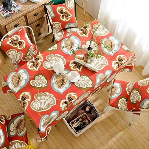 SONGHJ Baumwolle Leinen Tischdecke Wasserdicht Rechteckig Hochzeit Esszimmer Dekoration Weihnachten Tischdecke Tee Tischdecke A 110x170cm -