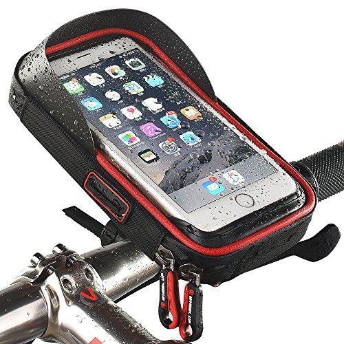 Funda soporte para bicicleta resistente al agua para móvil ciclismo marco bolsa...