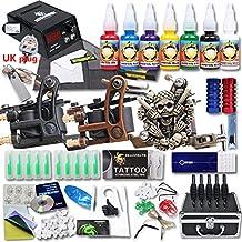 dragonhawk profesional Kit de Tatuaje 3ametralladora Top CE Agujas de alimentación Grip punta EE. UU. Marca de tinta con funda kt-3eu-2