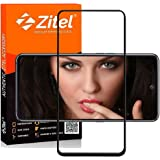 Zitel® Screen Protector for Samsung A72 Tempered Glass Edge to Edge Full Screen Coverage with Easy Installation Kit -Black