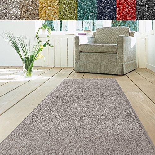 Teppich Läufer Luxury   moderne Shaggy Optik mit flauschigem Hochflor   Teppichläufer in vielen Farben für Flur, Schlafzimmer, Wohnzimmer etc....