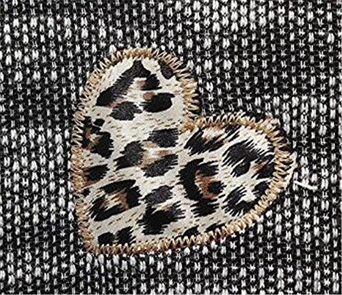 Gogofuture T-Shirt Donna Blusa Manica Lunga Taglie Forti Maglia Elegante E Casual Con Stampa Floreale Ricamato Multicolore Classico Maglie Gray